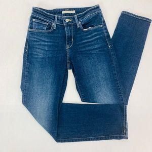 Levi Strauss Womens Jeans 4 Blue Mid Rise Skinny